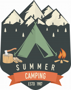 Summer Camping Badge Shirt