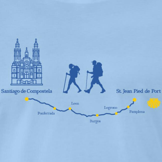 Camino Frances route ontwerp